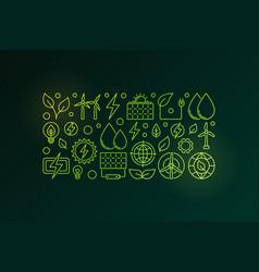 eco green energy vector image