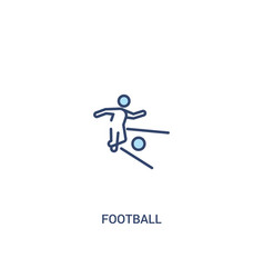Football concept 2 colored icon simple line vector