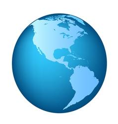 Globe America maps vector