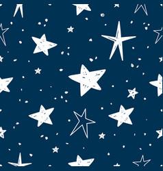 hand drawn stars pattern vector image