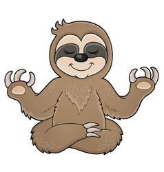 Happy sloth theme image 1 vector