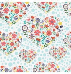 Hearted floral pattern vector image