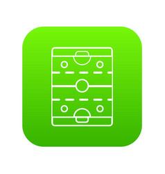 Hockey ice field icon green vector