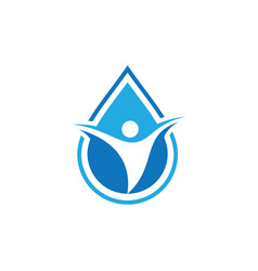 human waterdrop nature logo vector image