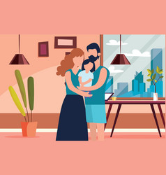 I stay at home awareness social media campaign vector