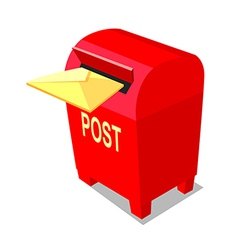 Icon post box vector