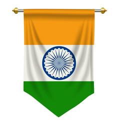 India pennant vector