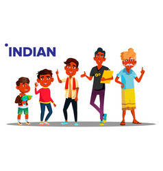 indian generation male set people person vector image