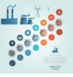 Industrial infographic 7 vector