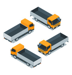 isometric cargo truck 03 vector image