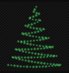 lights on christmas tree vector image