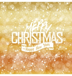Merry Christmas Lights Background with Christmas vector image
