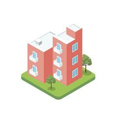 Modern design three floor building icon vector