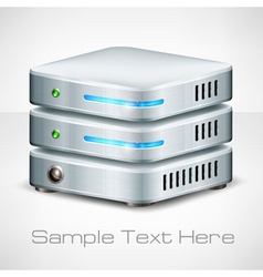 Network server on white vector