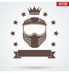 Paintball sports signs and label vector