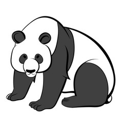panda icon cartoon vector image
