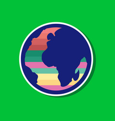 paper sticker on stylish background of gays earth vector image