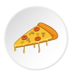 Pizza icon isometric style vector