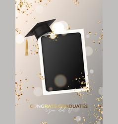 Poster for design graduation vector