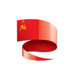 Red flag of the ussr vector