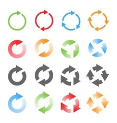Rotating Arrows Set vector image vector image
