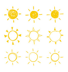 set sun vector image