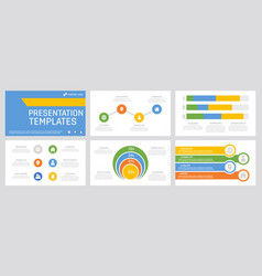 Set yellow green blue and orange elements for vector