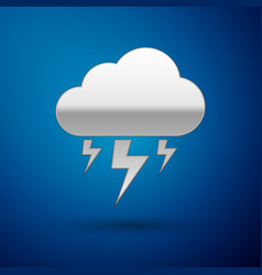 silver storm icon isolated on blue background vector image