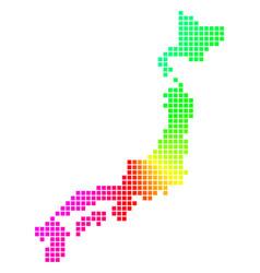 Spectral pixel japan map vector