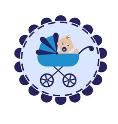 stroller with baby vector image