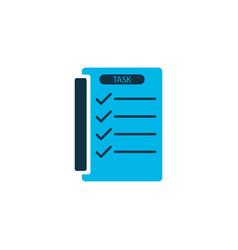 tasklist icon colored symbol premium quality vector image