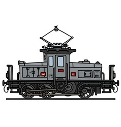 Vintage small electric locomotive vector