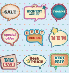 Vintage speech bubbles vector image