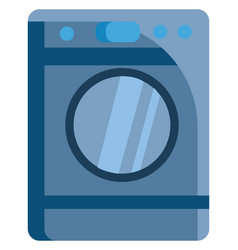 washing machine simple image color on white vector image