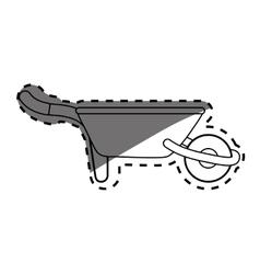 Wheelbarrow gardening tool vector