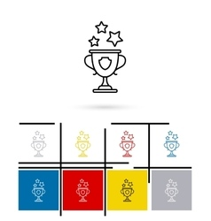 Win cup line icon vector image
