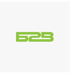 Wordmark b2b logo icon template vector