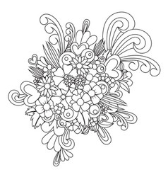 Zentangle flower blossom zen tangle coloring vector