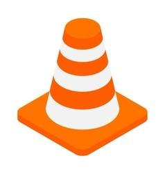 An orange road hazard cone isometric 3d icon vector image vector image