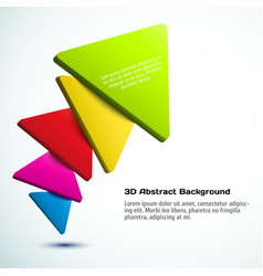 Colorful 3D triangle background vector image vector image