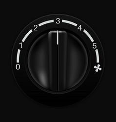 fan speed selector car dashboard black switch vector image