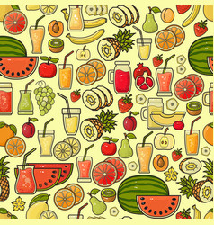 seamless pattern of hand drawn colorful vector image vector image