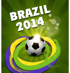 background on the football theme vector image vector image