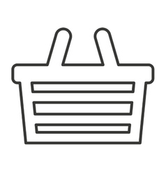 basket shopping isolated icon vector image vector image