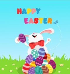 Bunny Celebrating Easter vector image