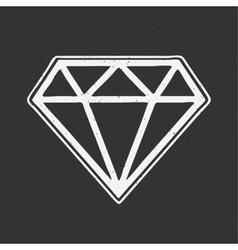 Diamond hand drawn old school tattoo vector image vector image