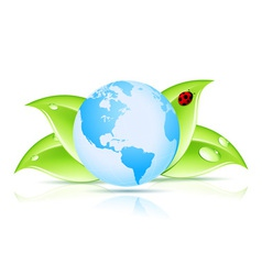 Green Earth Symbol vector image vector image