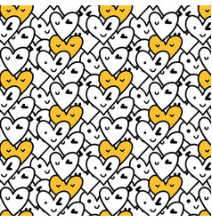 hand drawn heart pattern vector image vector image