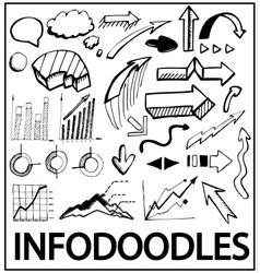 hand drawn infographics vector image