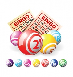 lottery balls vector image vector image